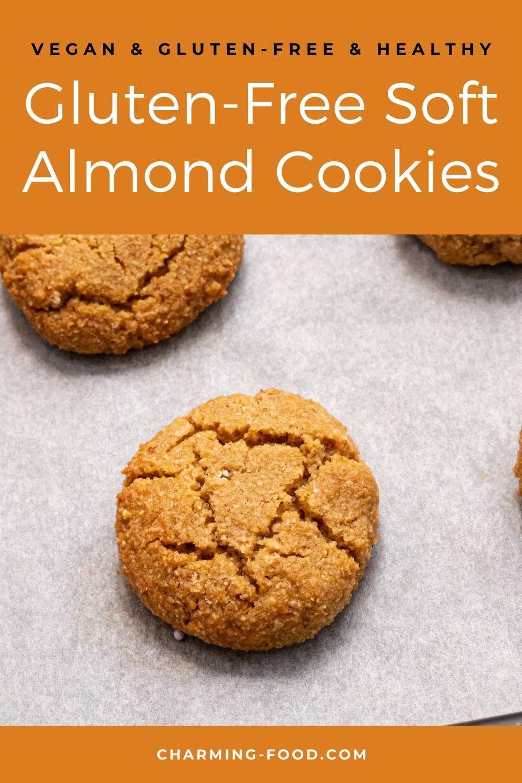GlutenFree Soft Almond Cookies CharmingFood Recipe