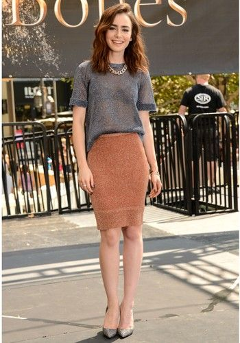 Lily Collins, its so casual and effortless but elegant, I love it!