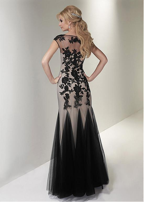 Charming Tulle Scoop Neckline Mermaid Mother Of The Bride Dresses With Beaded Lace Appliques