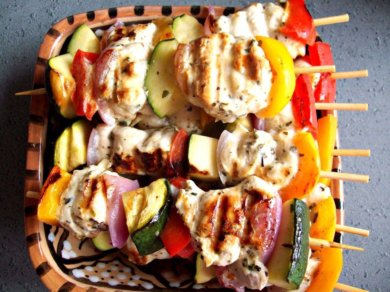 Photo of Greek-style chicken skewers-Greek-style chicken skewers …
