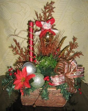 Arreglos navide os arreglos de flores pinterest for Arreglos navidenos para mesa
