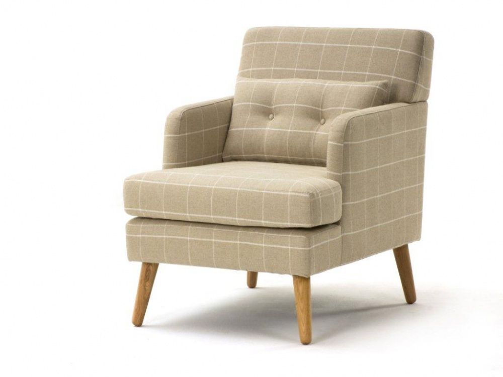Cheque Oatmeal Fabric Armchair | Armchairs From FADS #FADSSpringRestyle