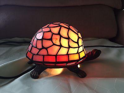 Pink/Orange Turtle Tortoise Tiffany Table Lamp 8