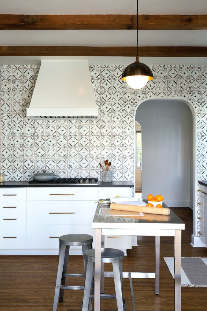 Patterned Kitchen Backsplash Tile | Beach House | Pinterest ...