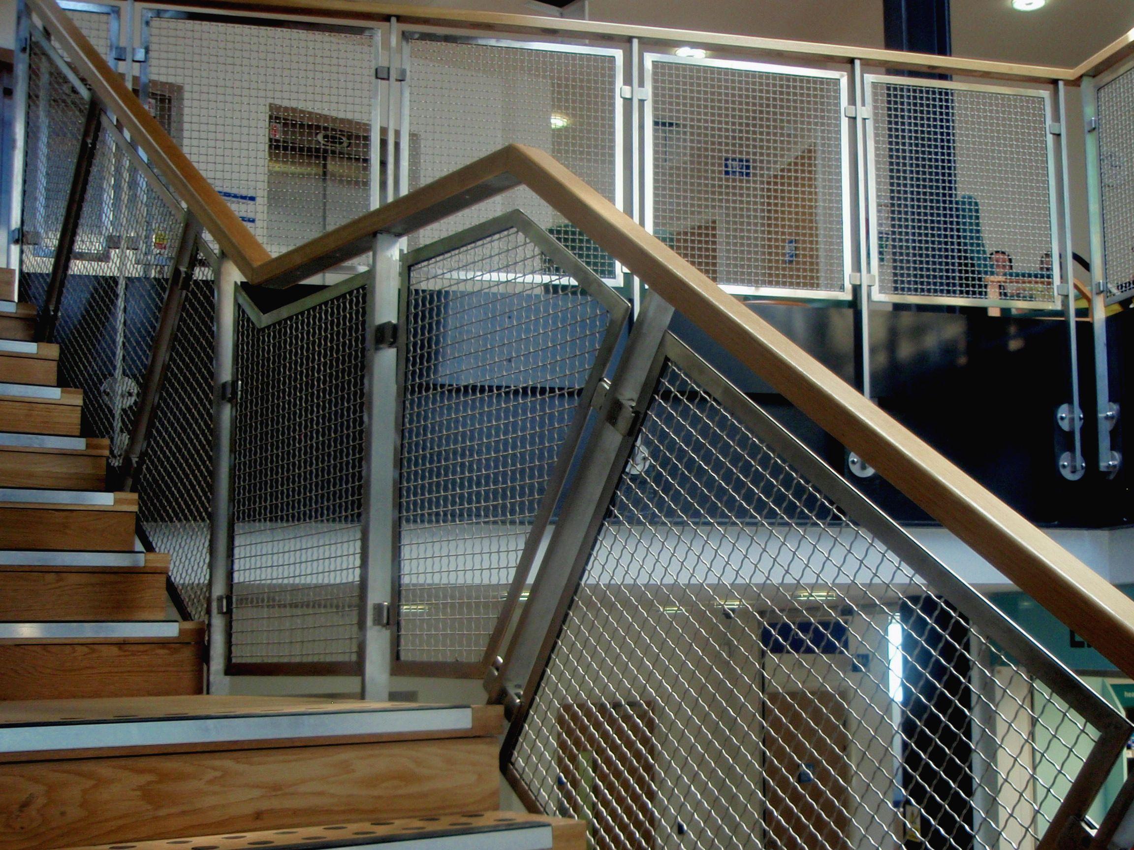 Best Aston Joint Services Internal Metal Mesh Balustrade 400 x 300
