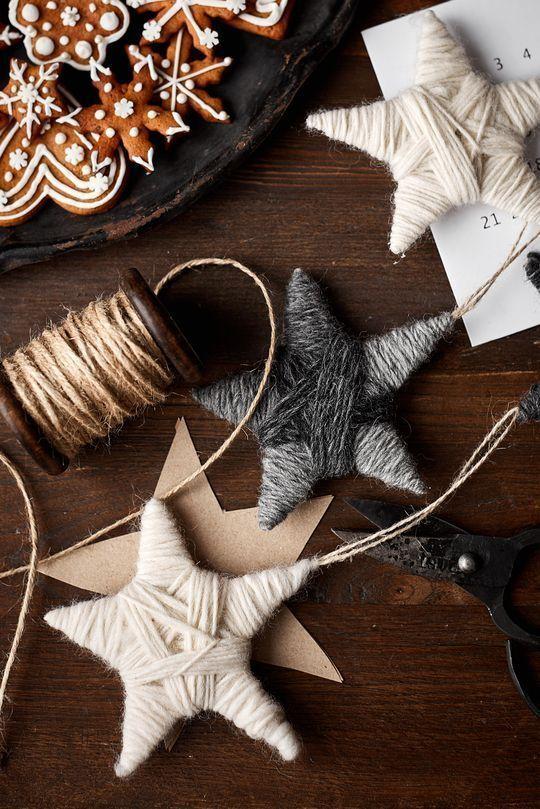 Kieputettu lankatähti - #kieputettu #lankatahti - #decoration - Weihnachten -... - Wohnaccess...