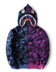 66053500a85f New-Men-039-s-camo-Bape-Shark-Jaw-Full-Hoodie-full-Zipper-Aape-Jacket-APE- Coat