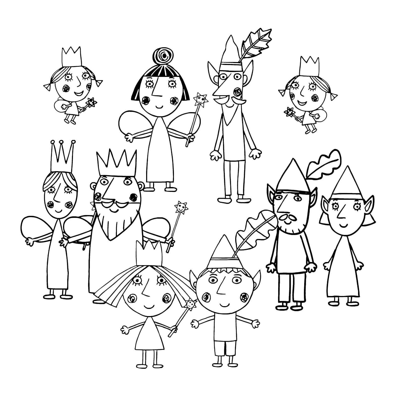 Ben And Holly Coloring Pages  Ben and holly, Coloring pages, Free