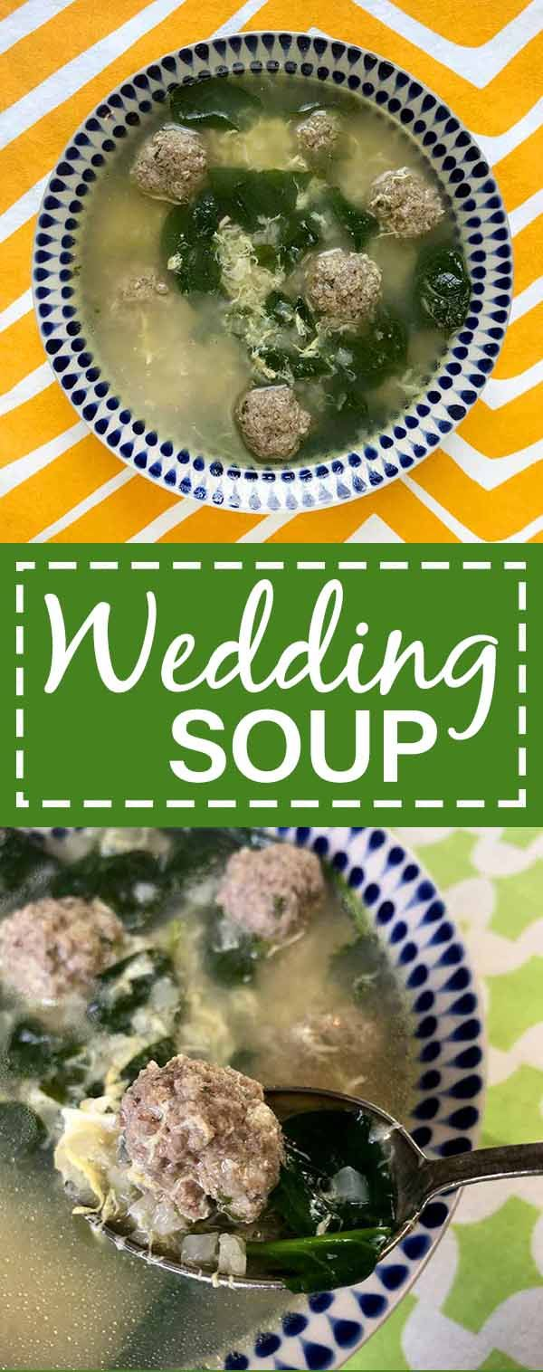 Italian Wedding soup is the perfect blend of protein and