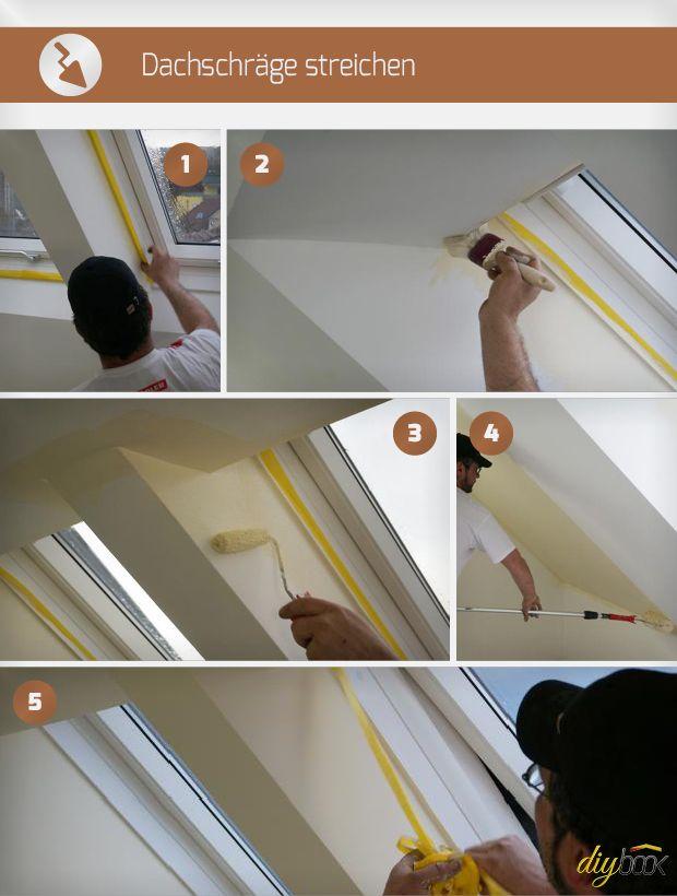 dachschr ge streichen hausbau pinterest holzbalken dachfenster und sockel. Black Bedroom Furniture Sets. Home Design Ideas