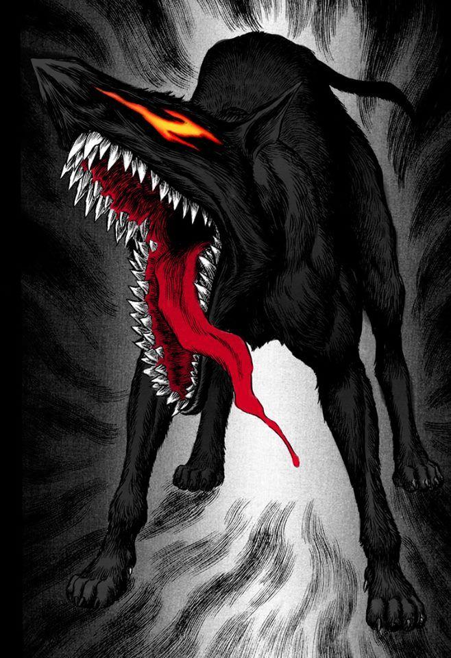 Berserk Anime art dark, Berserk, Demon dog
