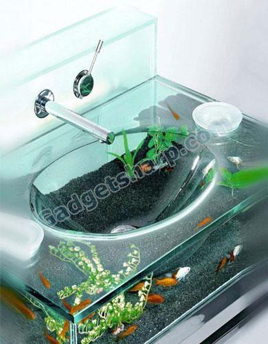 Moody Aquarium Sink Huis Aquarium Vissenkom Tafel Ontwerp