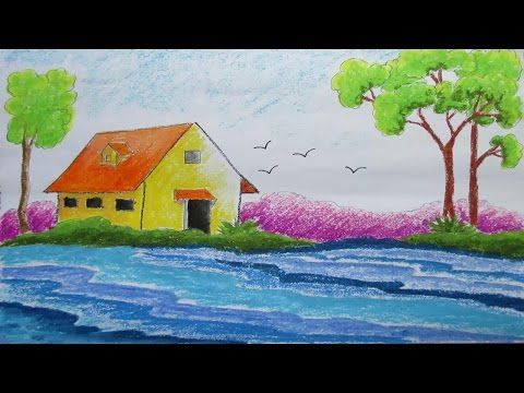 Pastel Drawing How To Draw A Scenery Easy Scenery Drawing Beautiful Drawings Drawing Scenery