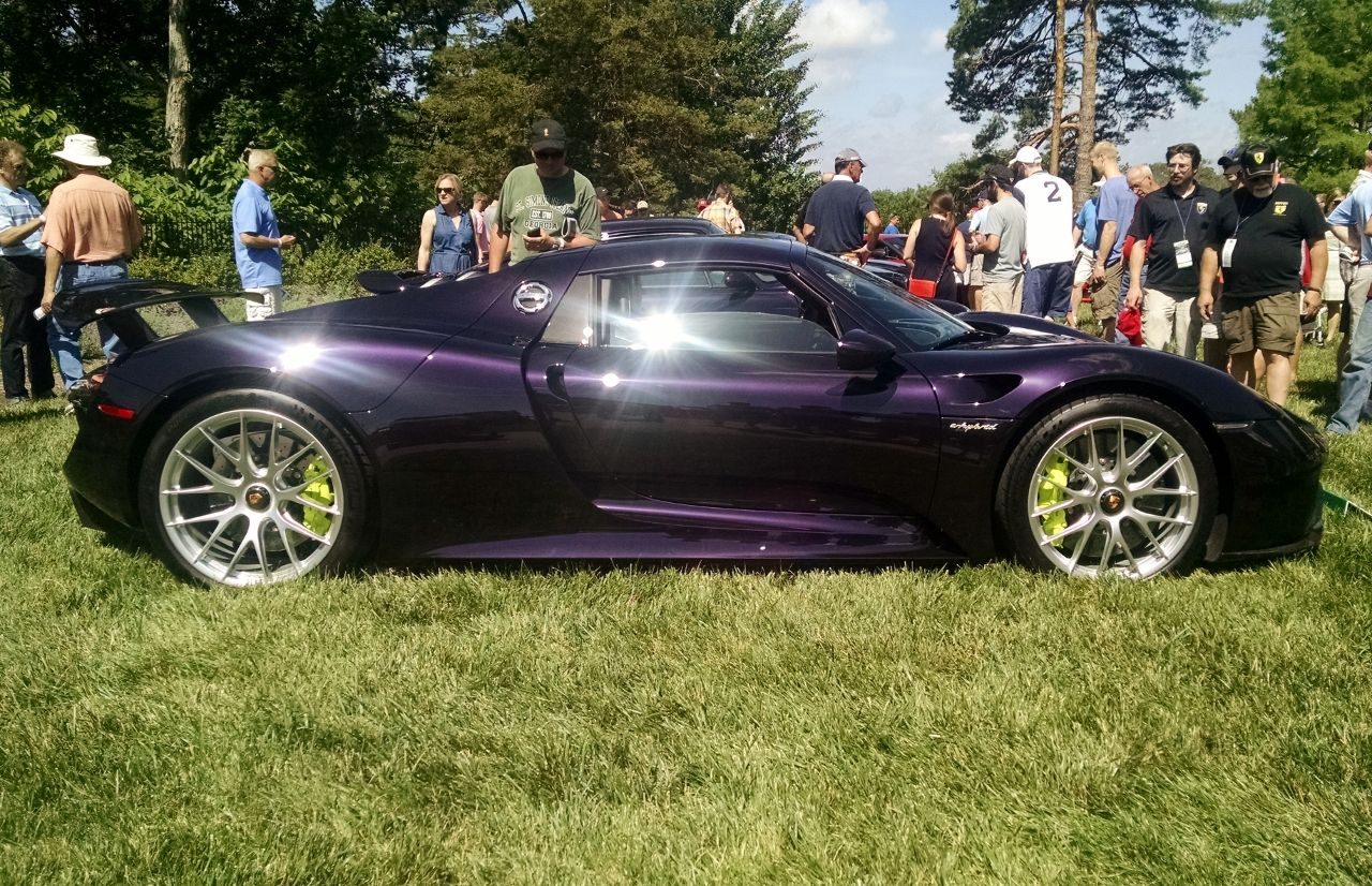 Purple Porsche 918 Spyder Shot At Cincinnati Concours D Elegance At