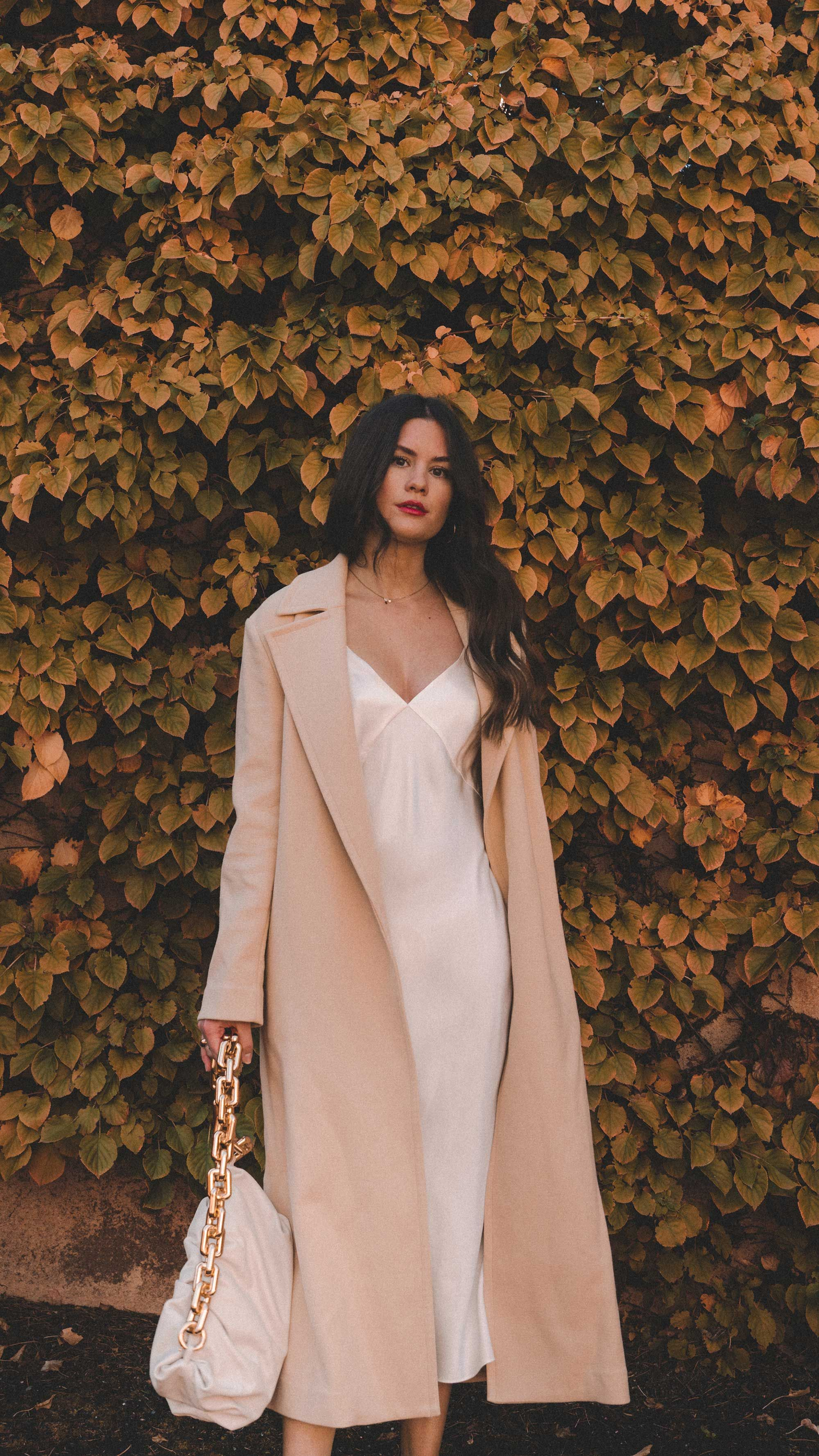 Chic Fall Outfit Idea Trench Slip Dress Sarah Christine Chic Fall Outfits Fashion Slip Dress Outfit [ 3556 x 2000 Pixel ]
