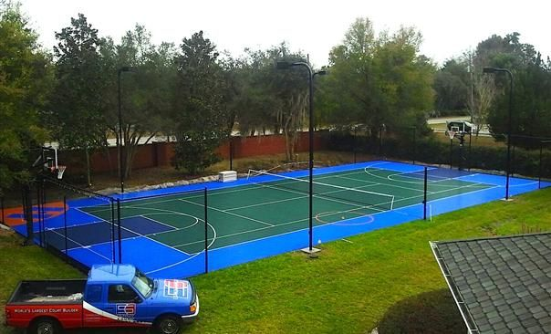 Multi Game Court (With images)   Tennis court, Build your ...
