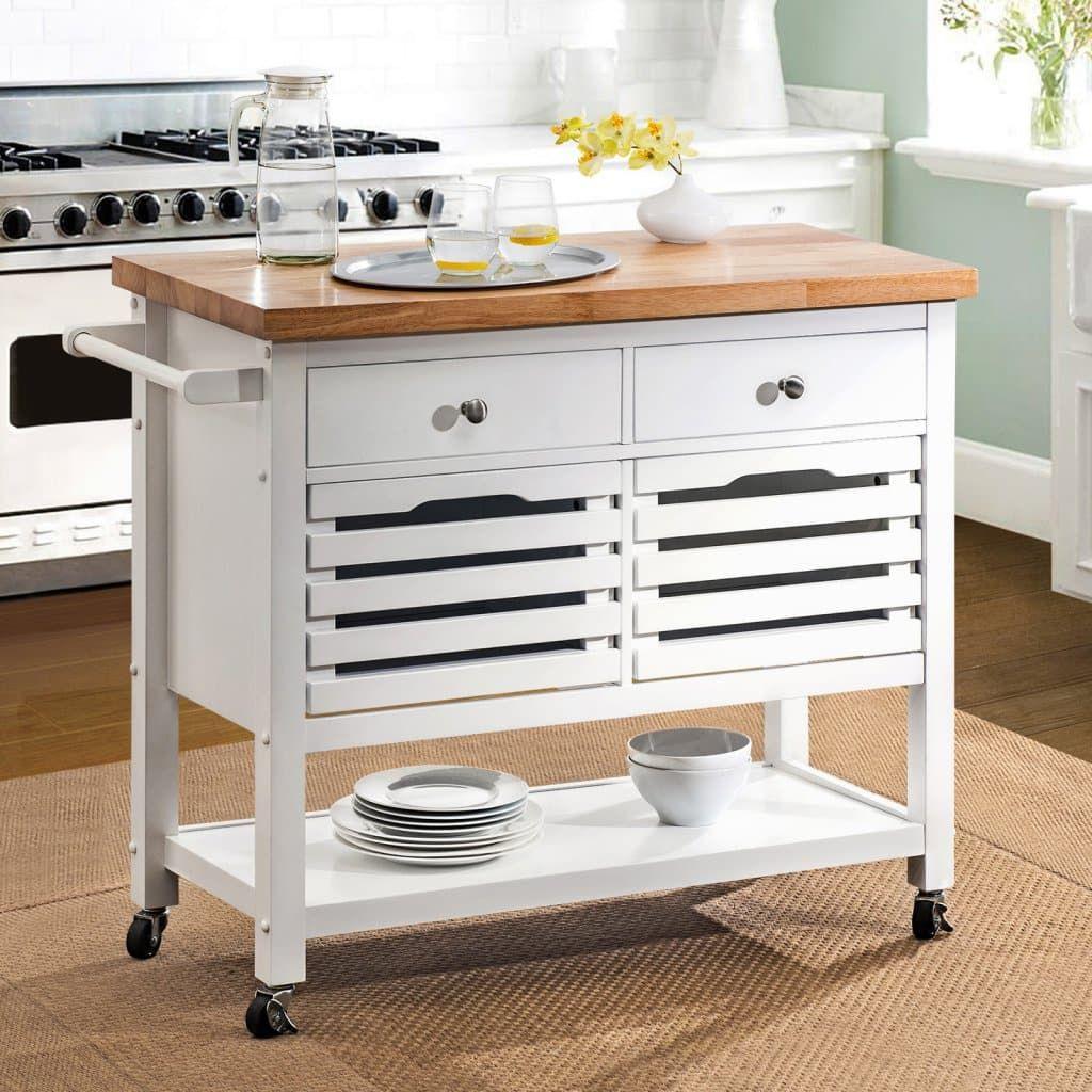 Sunjoy New Jaden Portable Kitchen Island Cart Hayneedle Portable Kitchen Island Portable Kitchen Kitchen Island Cart