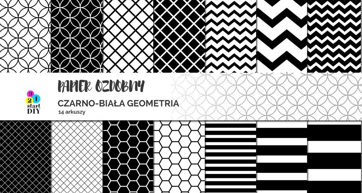 Papier Ozdobny Do Druku 1 Geometryczne Czarno Białe