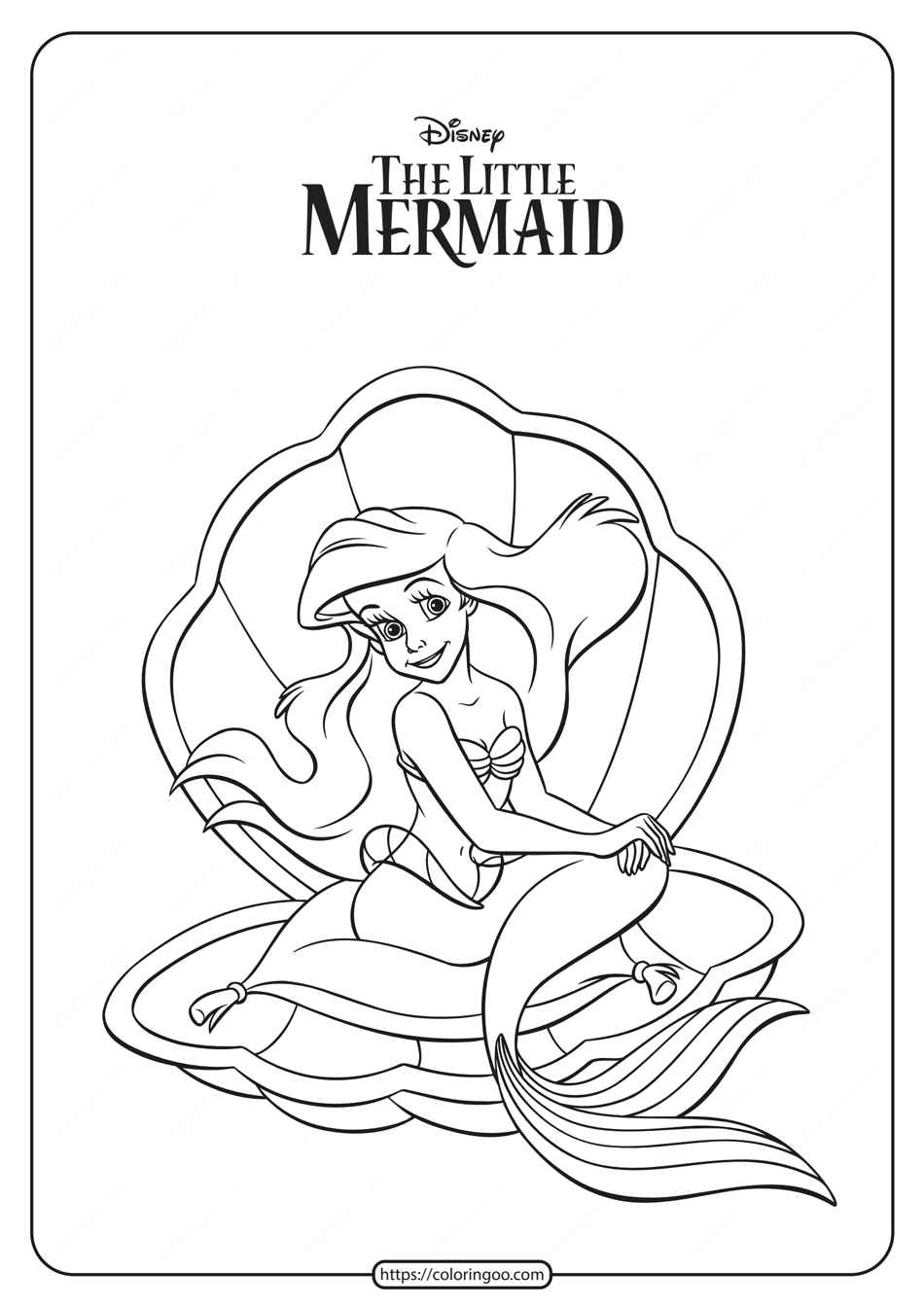 Gallery Printable Princess Ariel Coloring Pages is free HD wallpaper.