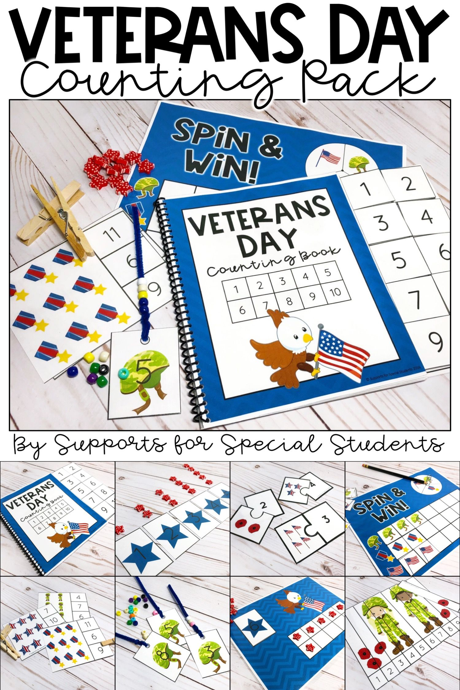 Veterans Day Counting Pack