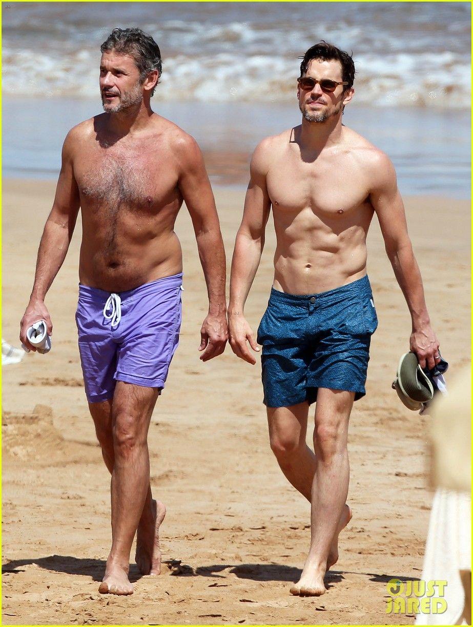 Matt Bomer Shows Off Shirtless Body While Paddleboarding With Husband Simon Halls