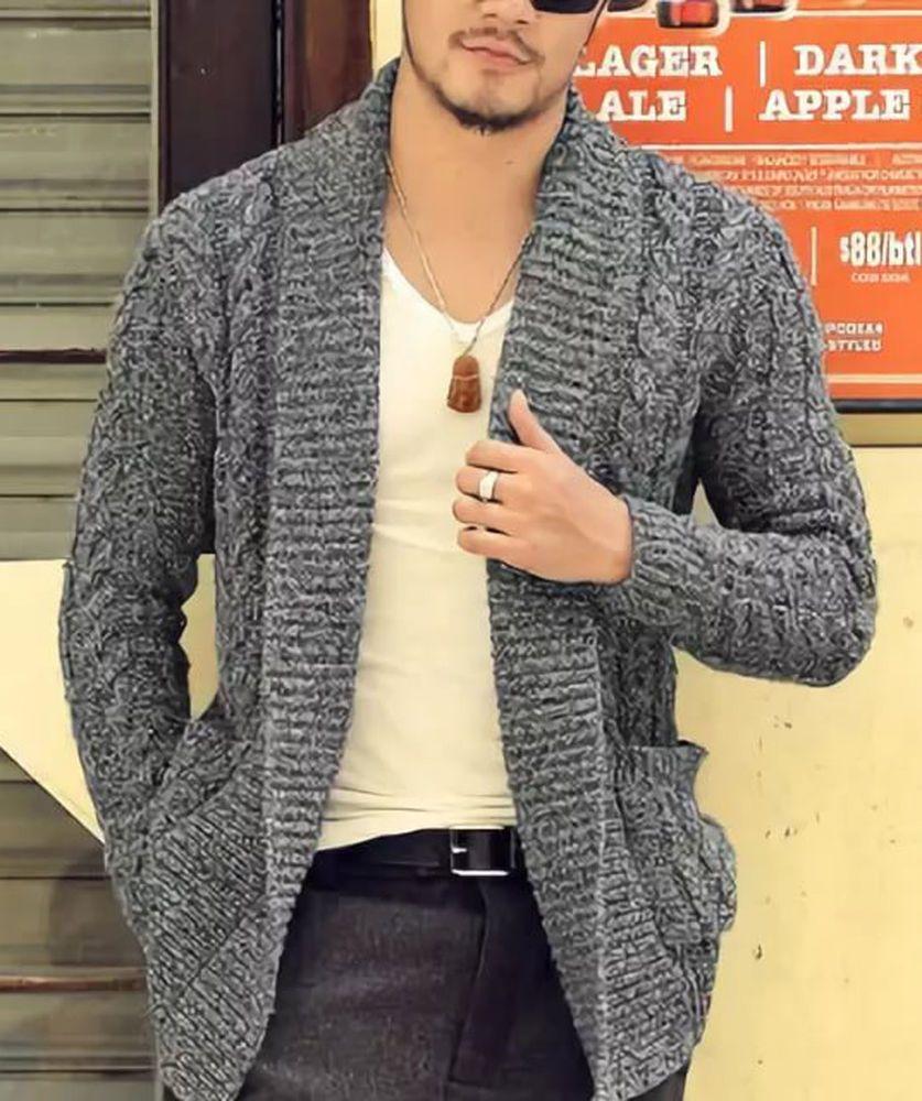 Men S Hand Knitted Cardigan Xs S M L Xl Xxl Jacket Wool Hand Knit Sweater B22 Handmade Cardigan Sueter Tejido Para Hombre Ropa De Moda Hombre Ropa De Hombre