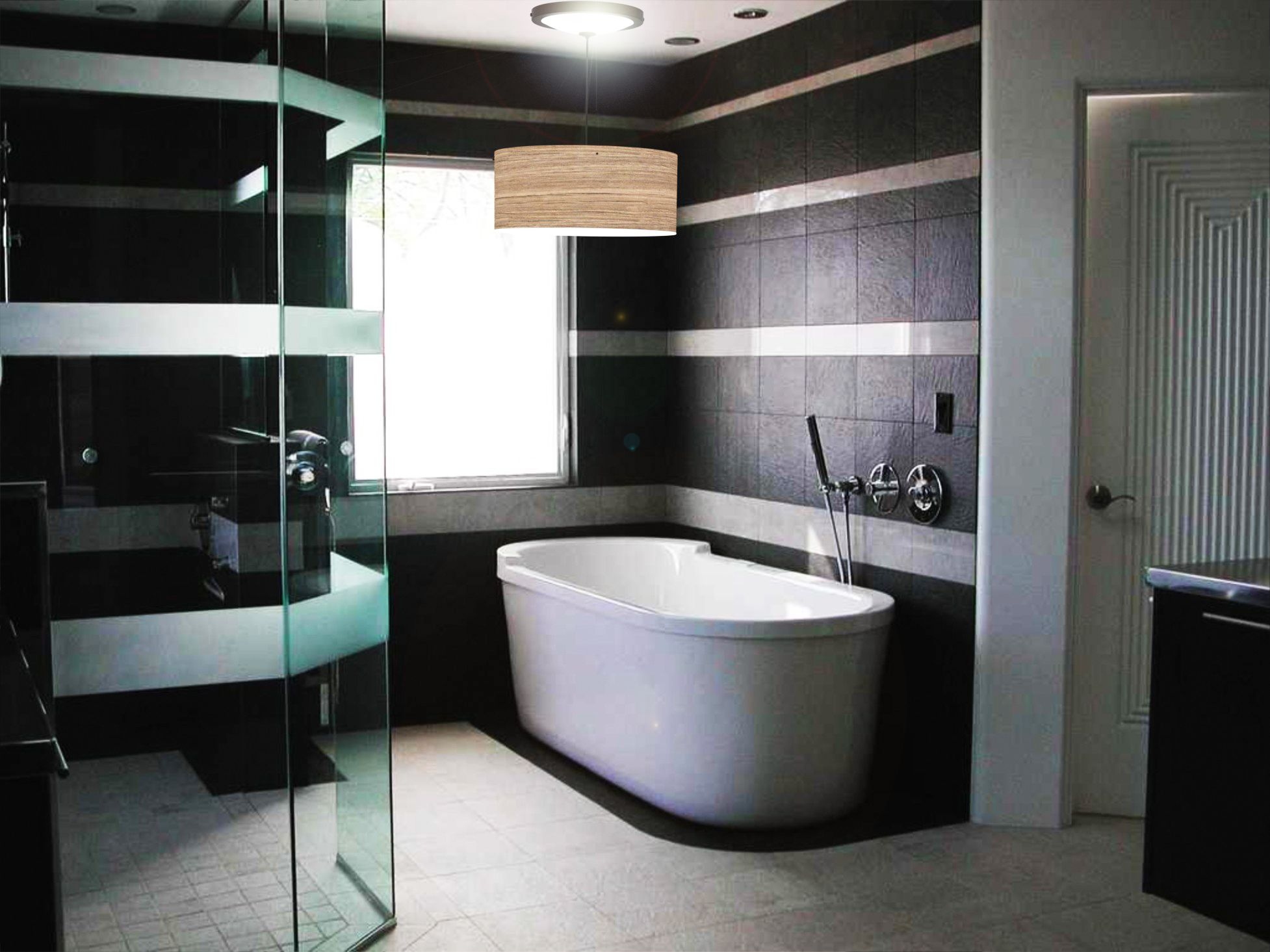 Solar luminance dlf 163 custom daylight light fixtures unique small bathroom tile design bathroom contemporary small bathroom wall and flooring tiles ideas in cool elegant black and white color scheme dailygadgetfo Choice Image