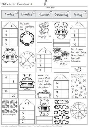mathestarter 1x1 woche 1 und 2 zaubereinmaleins designblog mathe mathe. Black Bedroom Furniture Sets. Home Design Ideas