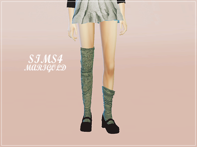 SIMS4 marigold: female loose socks_unbalance_여성 언발란스 루즈삭스_여성 양말