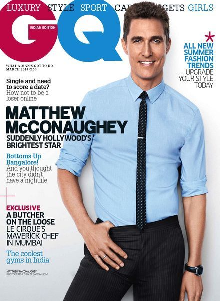 Matthew McConaughey - GQ Magazine Cover [India] (March 2014)