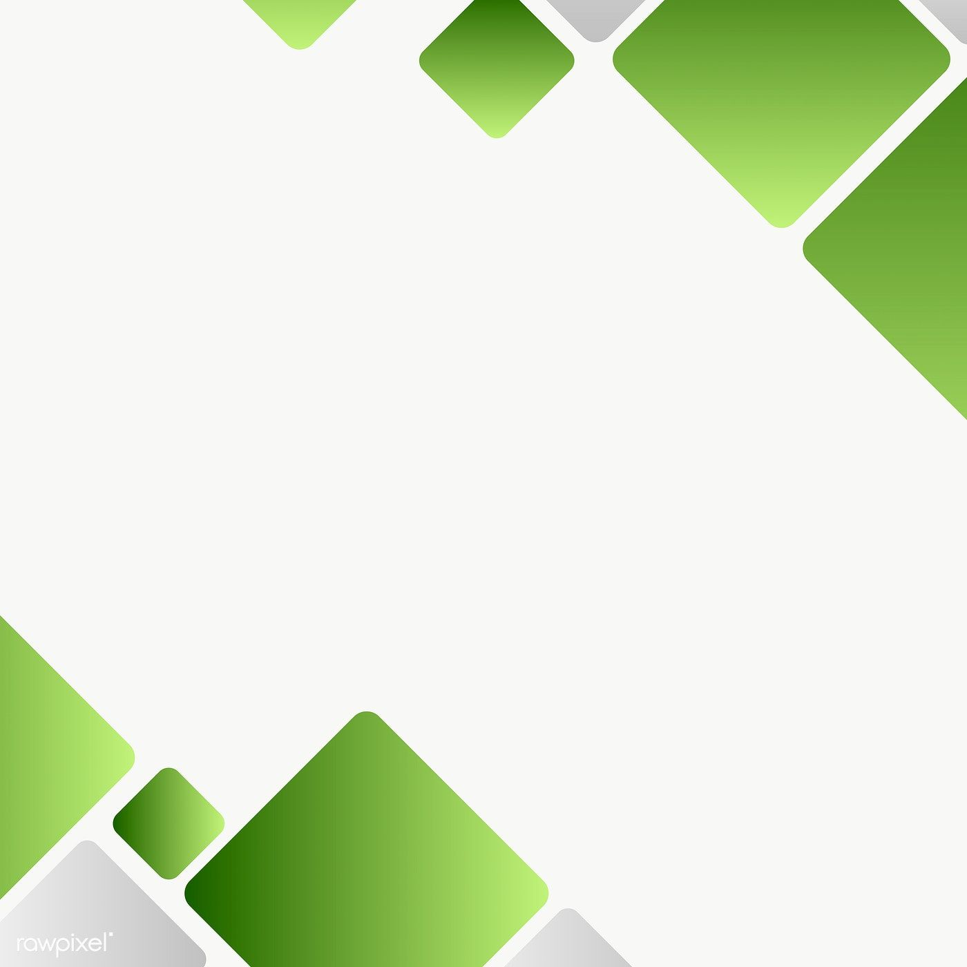 Green Geometric Template Design Element Free Image By Rawpixel Com Mind In 2021 Vector Free Template Design Geometric Background