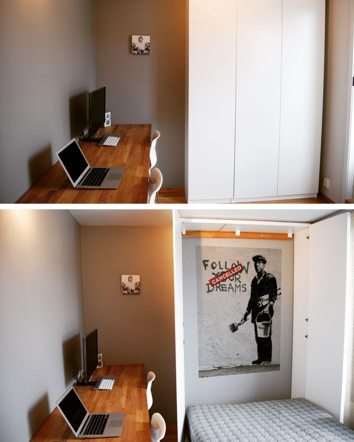 Ikea hack murphy bed via pax cabinet house mood in
