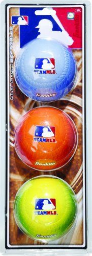 Team MLB Pack Foam Softballs Gradient - http://www.closeoutball.com/softball-closeout-sale-discount-free-shipping/team-mlb-pack-foam-softballs-gradient/
