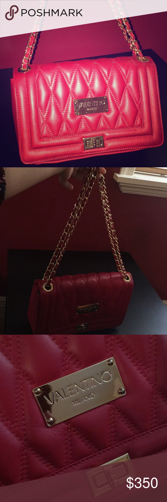 4dfcc0aa86 Valentino Milano red handbag Beautiful red Valentino Milano handbag. Can be  used as a crossbody or shoulder bag. Tags included Valentino Bags Shoulder  Bags
