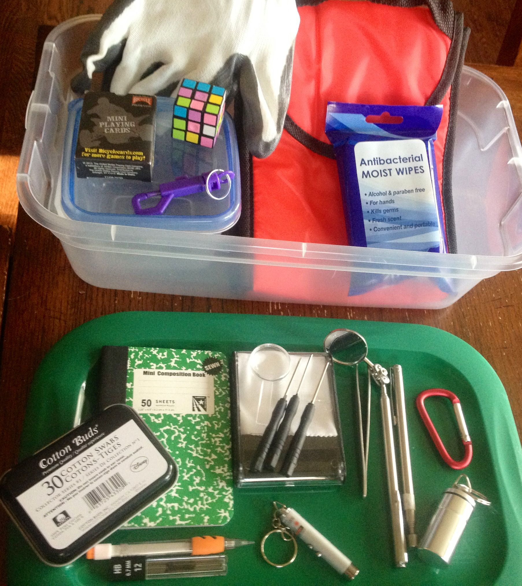 The kids Geocaching Kits I bought everything from the
