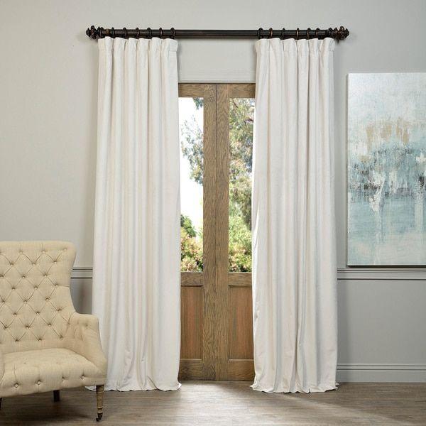 Superior Exclusive Fabrics Signature Off White Velvet Blackout Curtain Panel (Off  White 96L), Beige Off White, Size 50 X 96 (Polyester, Solid) Part 21