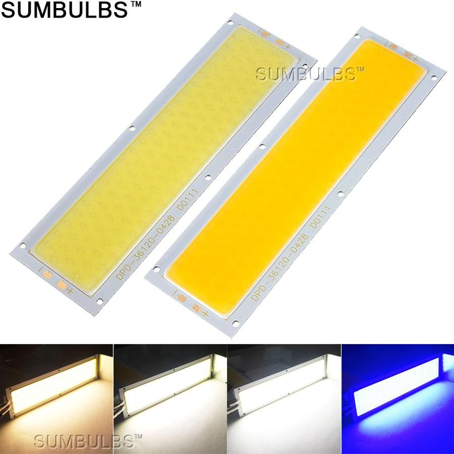 natural light bulbs for office. 120x36MM 10W COB LED Strip Light Bulb Lamp DC 12V 1000LM Blue Warm Natural Cold White Bulbs For Office U