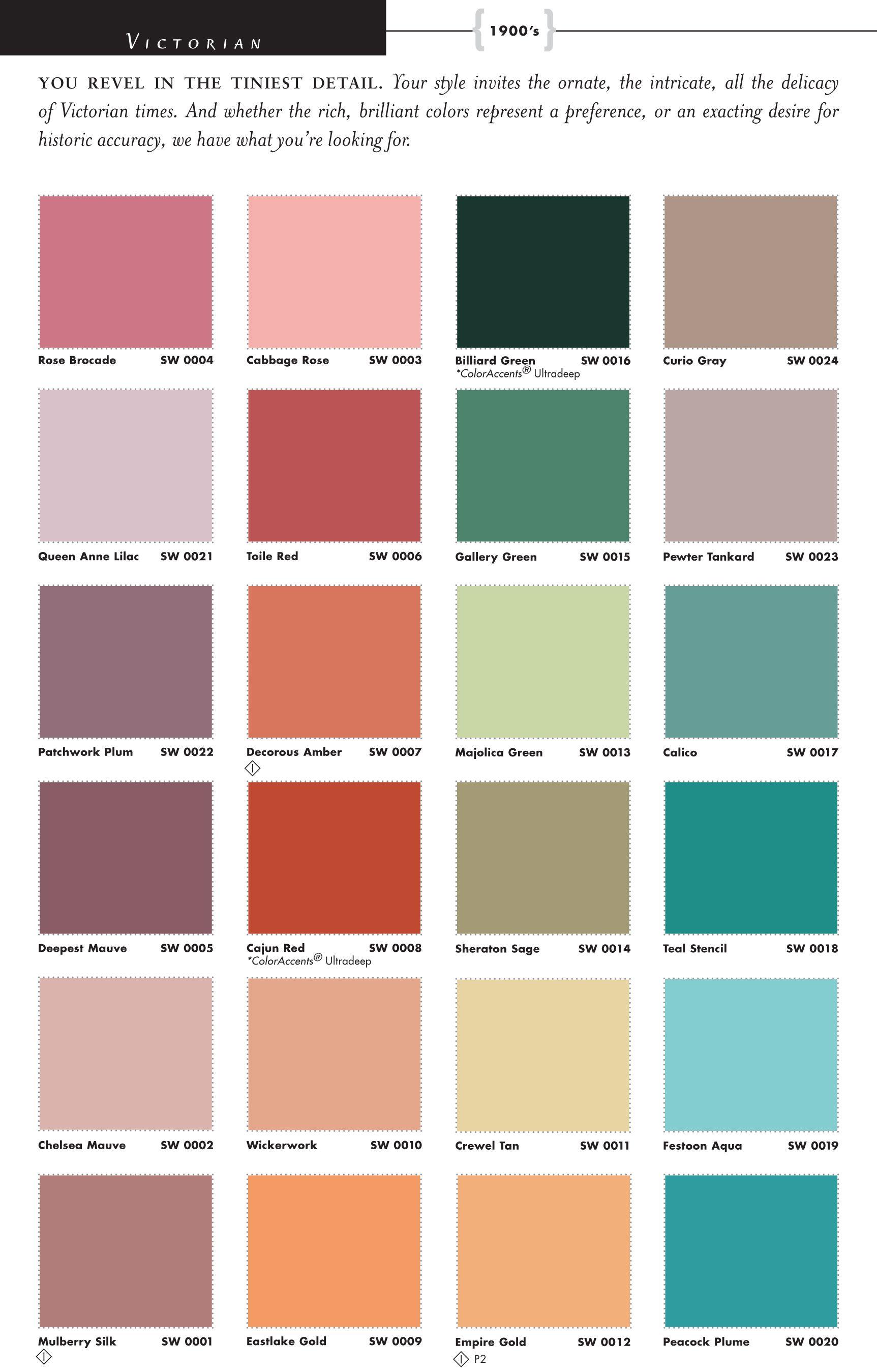 The Victorian Color Palette - Victorian Interior - Pinterest -