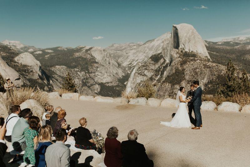 Intimate Glacier Point Wedding At Yosemite National Park Yosemite Wedding Glacier Point Wedding National Park Wedding