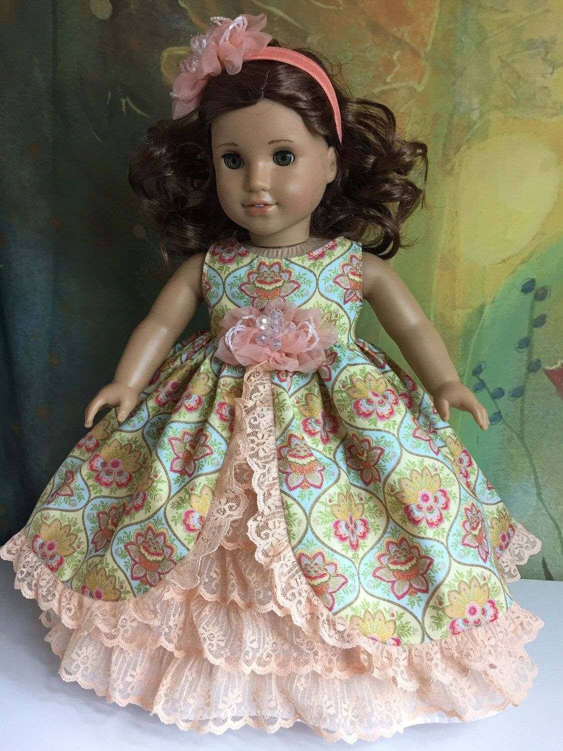 A personal favorite from my Etsy shop https://www.etsy.com/listing/510276883/american-girl-gorgeous-peach-southern