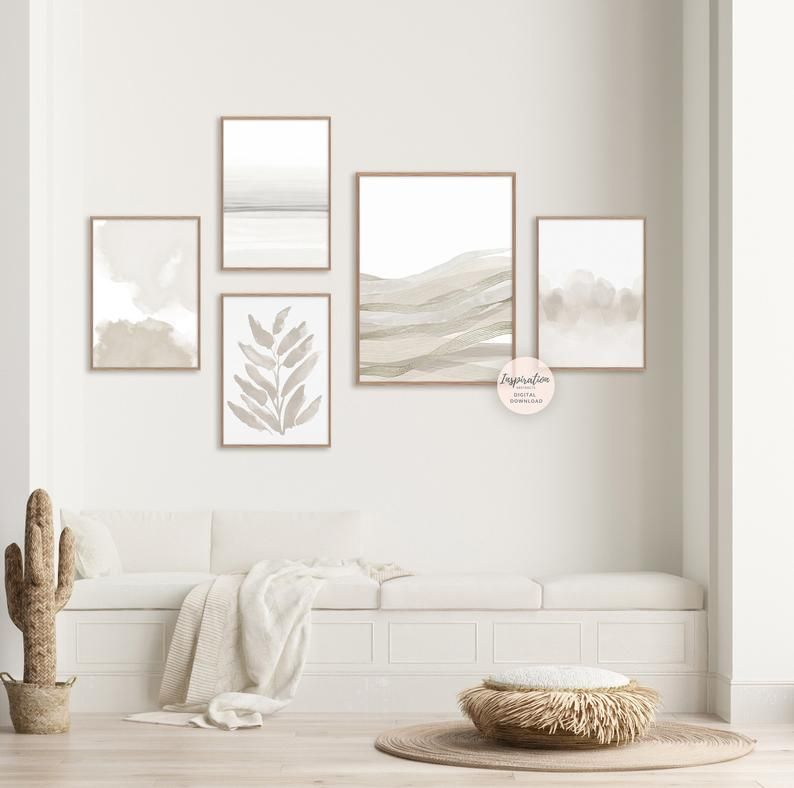 Minimalist gallery wall Set of 5 Prints Gallery Wall Set 5 | Etsy