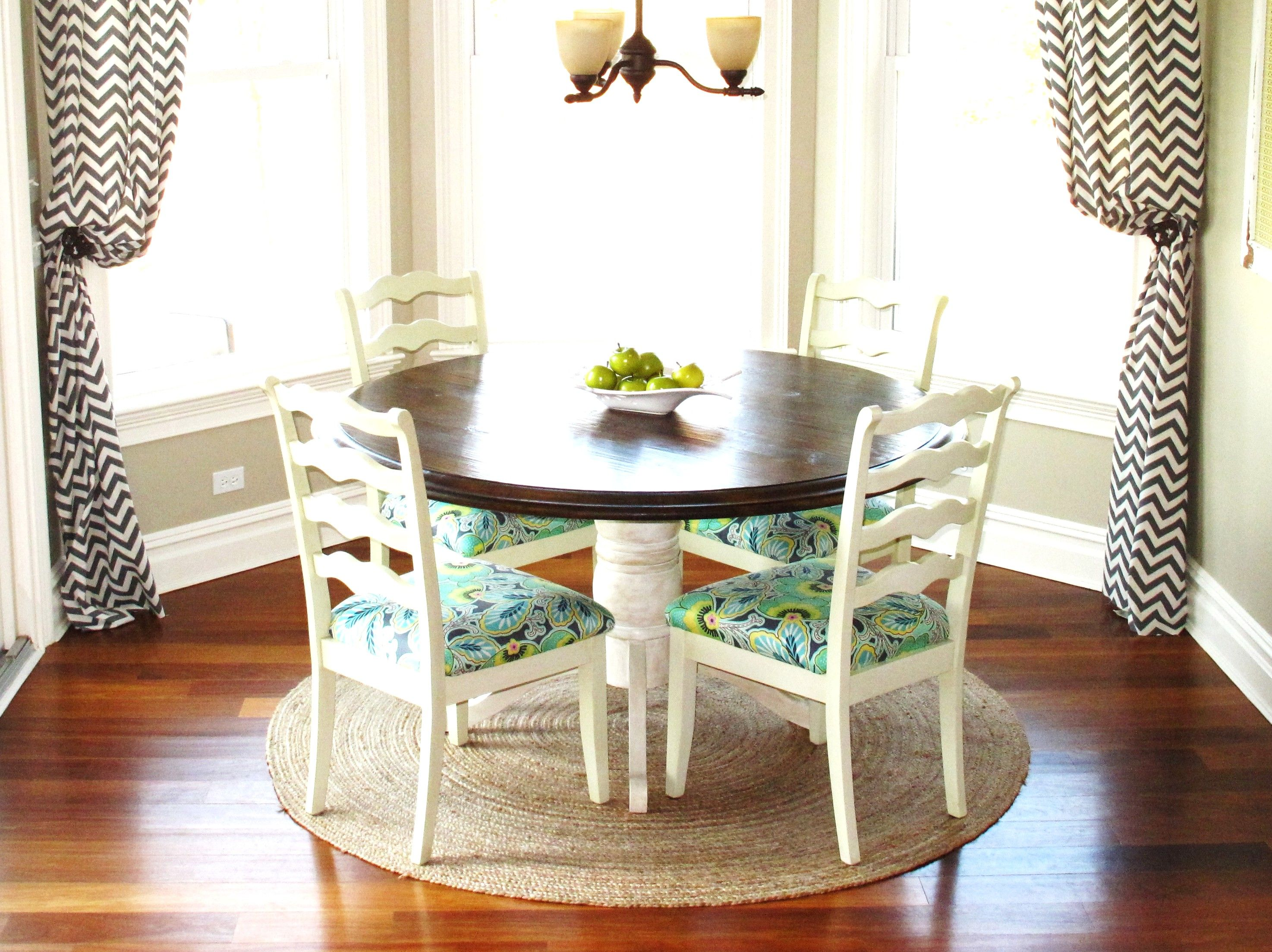 kitchen nook table and curtain also chandelier as well as wooden