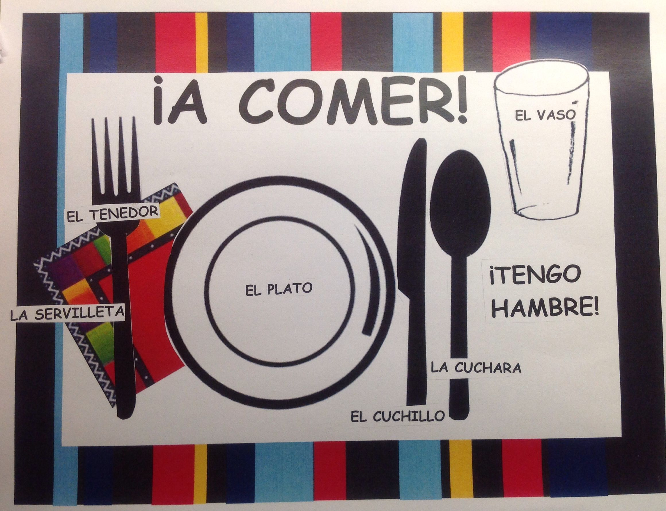 spanish placemats a comer pinterest spanish spanish rh pinterest com Toshiba User Guide Manual Guide Book