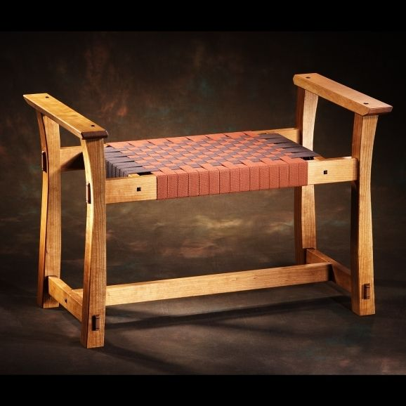 Cherry Sitting Bench Quot Woven Quot Products I Love Sitting