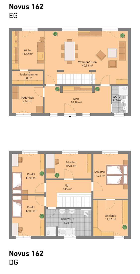 Spektral-Haus baut schlüsselfertige, individuelle und - kuche wohnzimmer offen modern