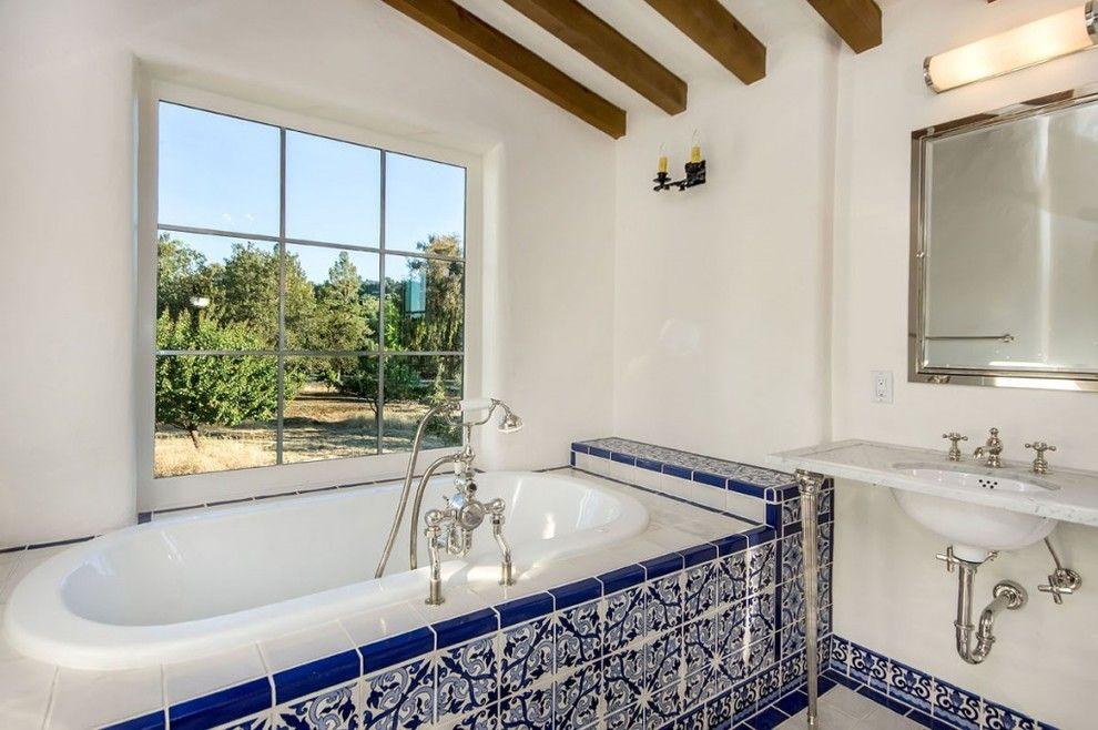 Mexican Tile Bathroom Mediterranean