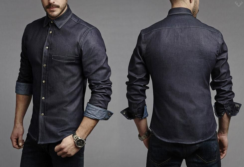3ae7a717021f Trim-Denim-Shirts-1-LumberJac Clubbing Outfits For Men-19 Ideas on How to  Dress for the Club