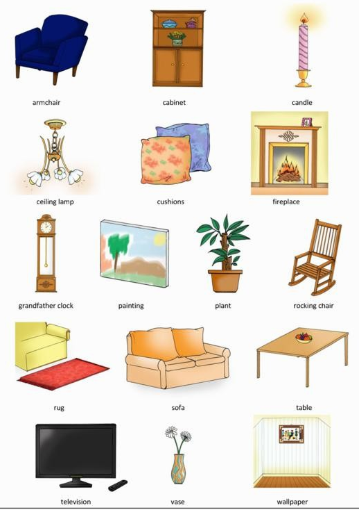 518 734 linguagem pinterest for Living room y sus partes