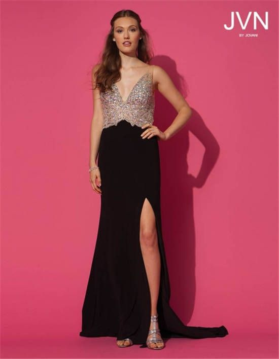 Jovani 86957 Bead Slit Long Prom Dresses 2014 | long split prom ...
