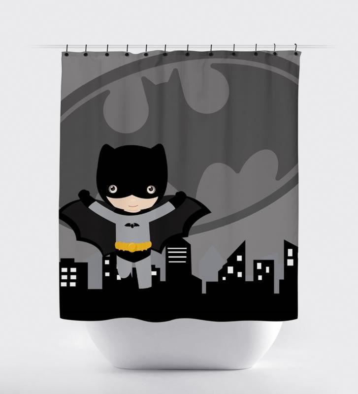 Batman Logo Shower Curtain - Print Art Shoppe